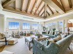 Designer Decorated Living Room with Ocean Viewsat 10 East Wind